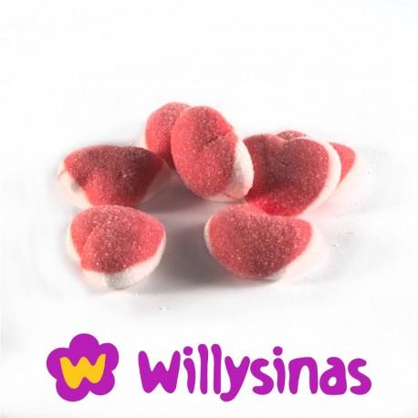 Corazon de fresas con nata