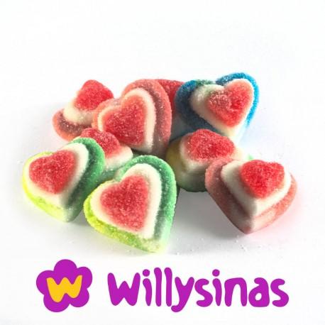 Corazon de gelatina con tres sabores de Vidal