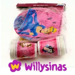 Cinderella y las Princesas Disney en un pack de fiesta