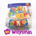 Winnie The Pooh para bebes, Pack de platos, servilletas, vasos y un mantel