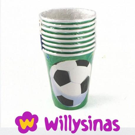 Ocho Vasos para fiestas tematicas de Futbol