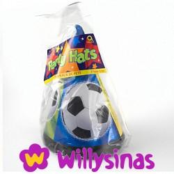 Gorros de cono para fiestas de futbol. (8)
