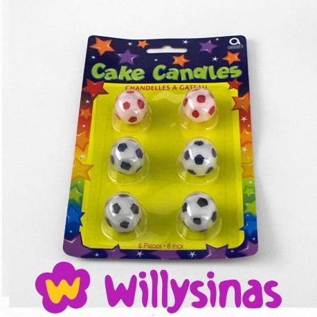 Velas de Cera con forma de Pelotas de futbol