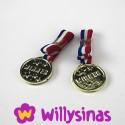 Cinco Medallas para reparto de premios en fiesta infantil