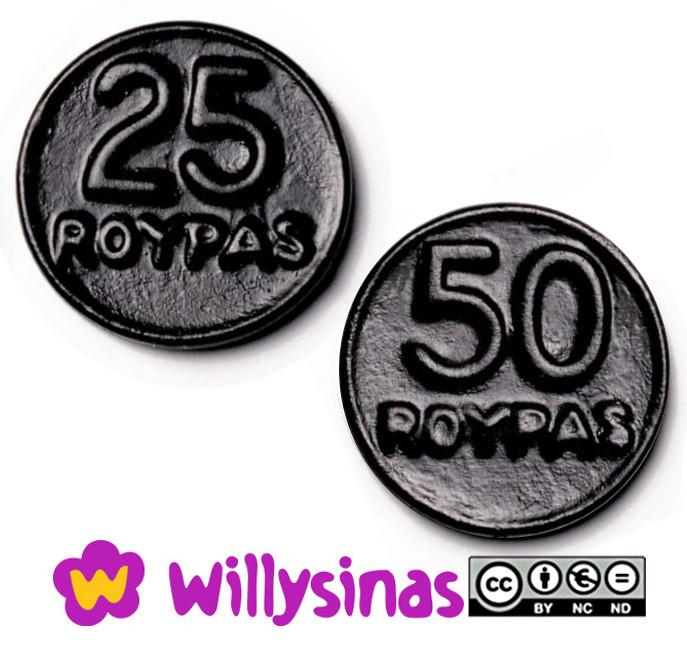 Monedas de Regaliz de Roypas